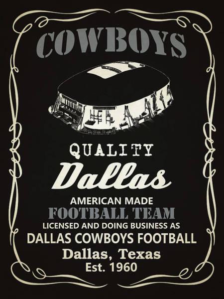 Whiskey Mixed Media - Dallas Cowboys Whiskey by Joe Hamilton
