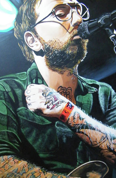 Music City Painting - Dallas Green by Aaron Joseph Gutierrez