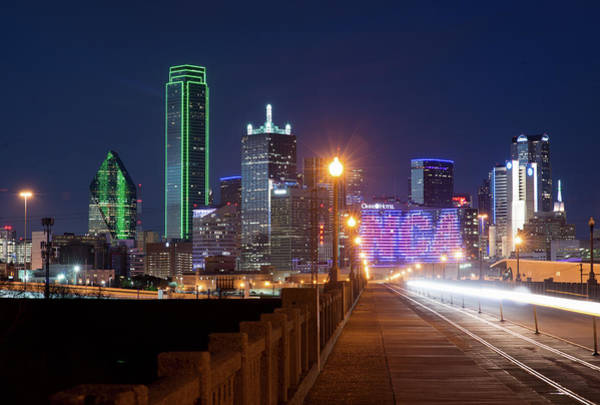 Photograph - Dallas Light Trails 022618 by Rospotte Photography