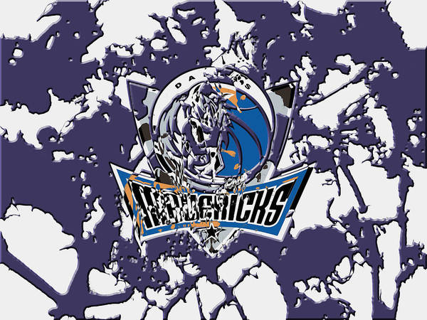 Mavericks Mixed Media - Dallas Mavericks 1b by Brian Reaves