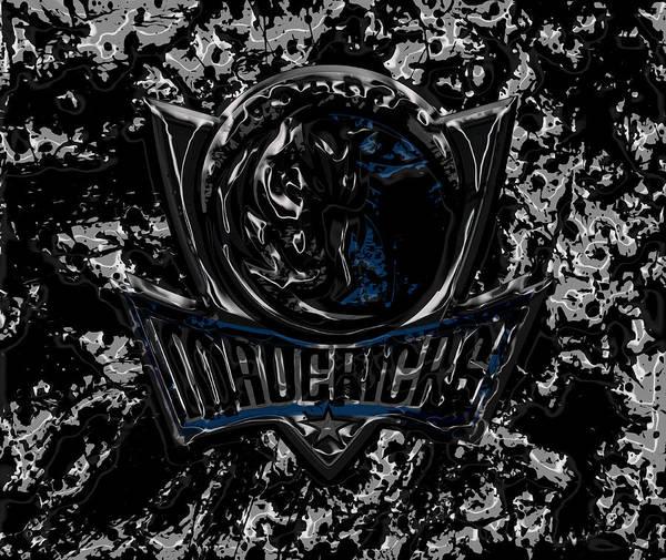 Mavericks Mixed Media - Dallas Mavericks 2d by Brian Reaves
