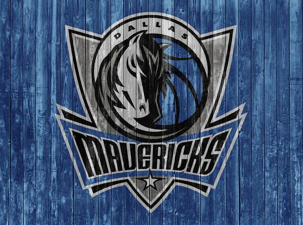 Mavericks Mixed Media - Dallas Mavericks Barn Door by Dan Sproul