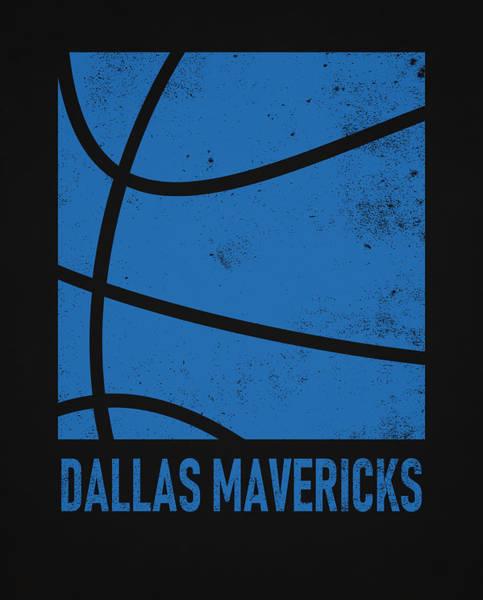 Wall Art - Mixed Media - Dallas Mavericks City Poster Art 2 by Joe Hamilton