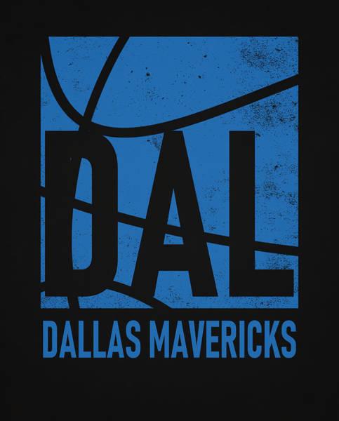 Wall Art - Mixed Media - Dallas Mavericks City Poster Art by Joe Hamilton