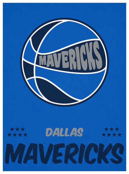 Mavericks Mixed Media - Dallas Mavericks Vintage Basketball Art by Joe Hamilton