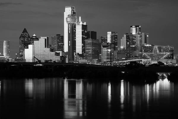 Photograph - Dallas Night 6616 Bw by Rospotte Photography