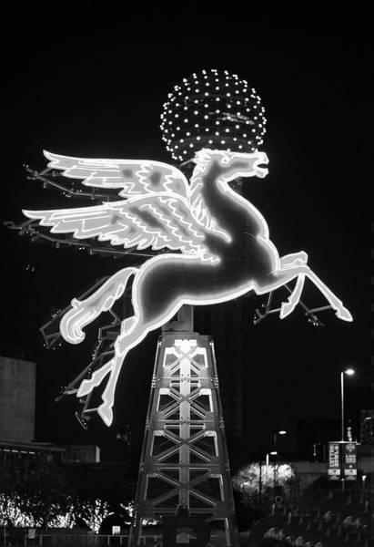 Dallas Pegasus Bw 121517 Art Print