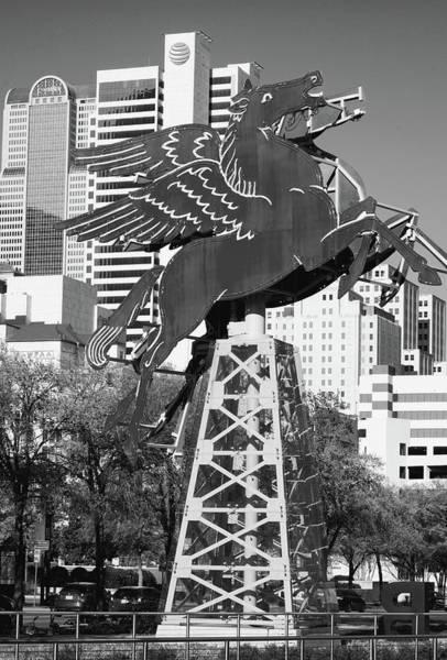 Photograph - Dallas Pegasus B W 032318 by Rospotte Photography