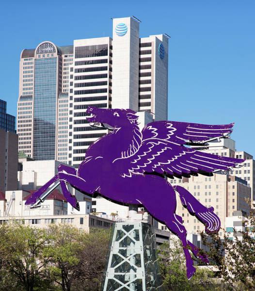 Photograph - Dallas Pegasus Purple 032418 by Rospotte Photography