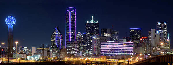 Photograph - Dallas Purple Night 71417 by Rospotte Photography