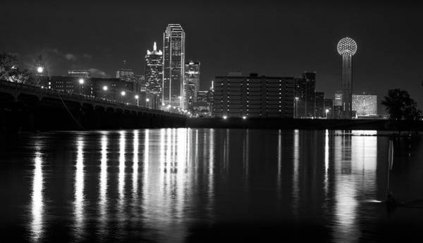 Photograph - Dallas Reflections B W 051118 by Rospotte Photography