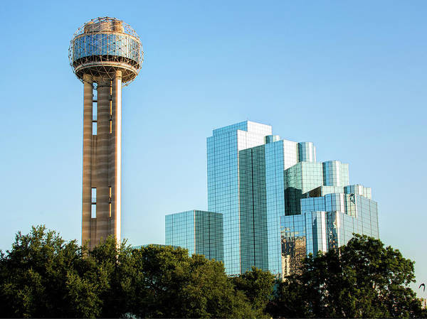 Photograph - Dallas Reunion Tower And Hyatt Regency by Gregory Ballos