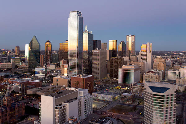 Photograph - Dallas Reunion Twilight by Rospotte Photography