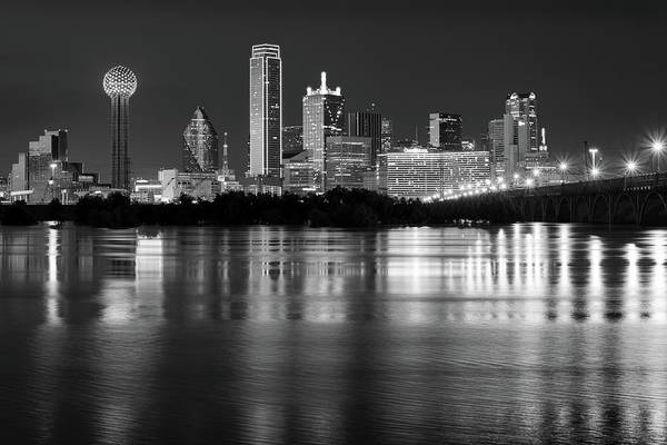 Photograph - Dallas Skyline 112217 Bw by Rospotte Photography