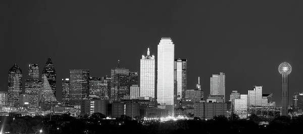 Photograph - Dallas Skyline Bw 113017 by Rospotte Photography