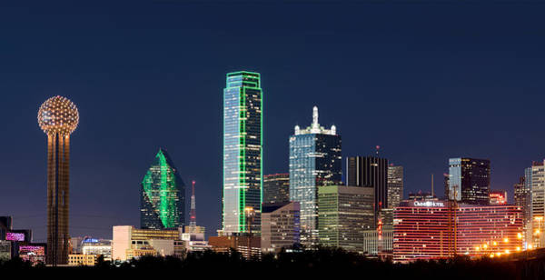 Photograph - Dallas Skyline Orange by Rospotte Photography