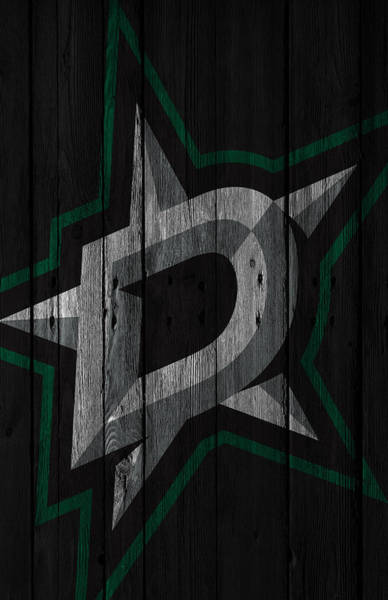 Arena Painting - Dallas Stars Wood Fence by Joe Hamilton