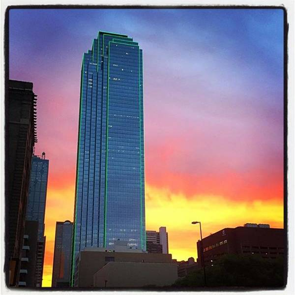 Wall Art - Photograph - #dallas #sunrise Painting by Alexis Fleisig