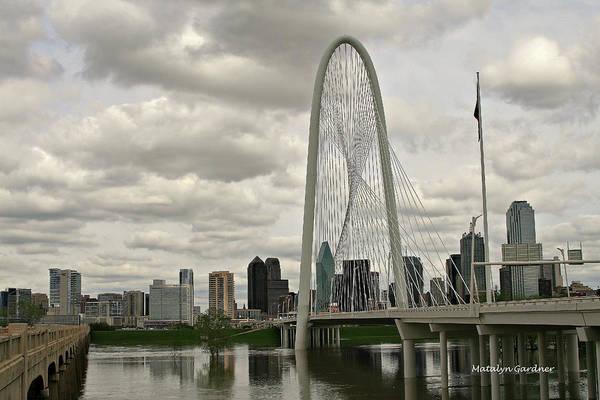Dallas Suspension Bridge Art Print