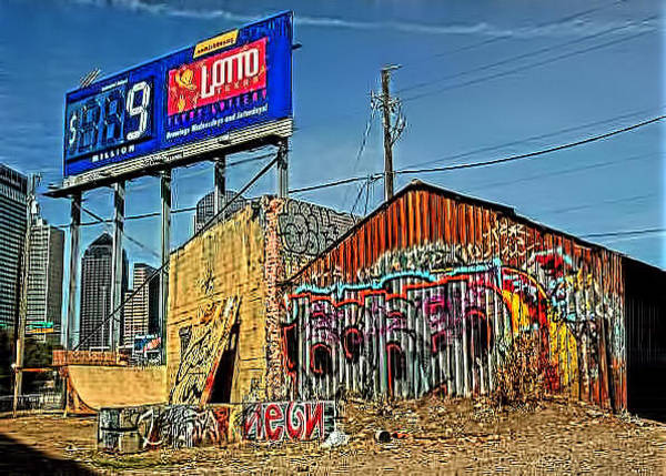 Rockdale County Photograph - Dallas Texas Graffiti  by Corky Willis Atlanta Photography