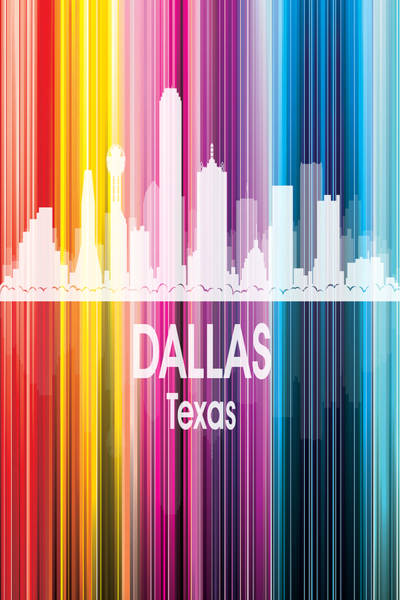 Wall Art - Digital Art - Dallas Tx 2 Vertical by Angelina Tamez
