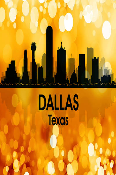 Wall Art - Digital Art - Dallas Tx 3 Vertical by Angelina Tamez