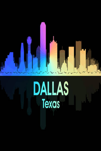 Wall Art - Digital Art - Dallas Tx 5 Vertical by Angelina Tamez