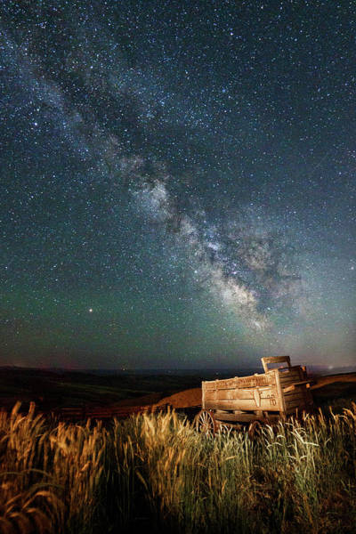 Photograph - Dalles Mountain Wagon And Milkway by Wes and Dotty Weber