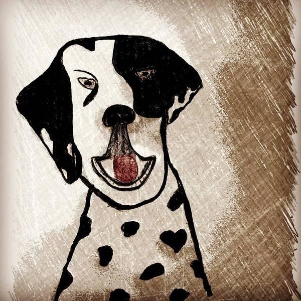 Wall Art - Painting - Dalmatian  by Angelina Elliott