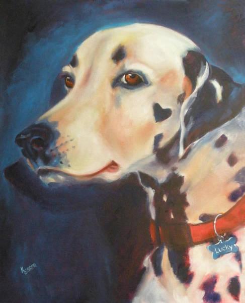 Wall Art - Painting - Dalmatian by Kaytee Esser