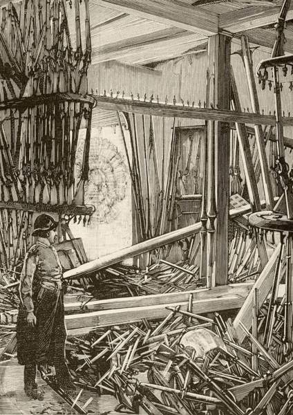 Explosion Drawing - Damage In The Armoury Of The Tower Of by Vintage Design Pics