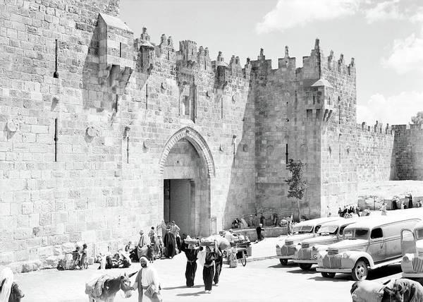 Damascus Photograph - Damascus Gate 1925 by Munir Alawi