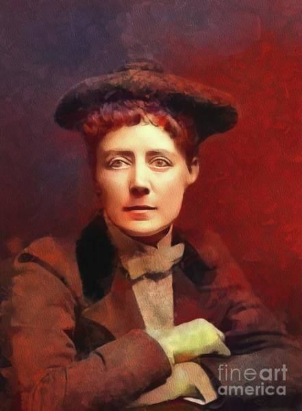 Equal Rights Wall Art - Painting - Dame Ethel Smyth, Suffragette And Composer by Mary Bassett