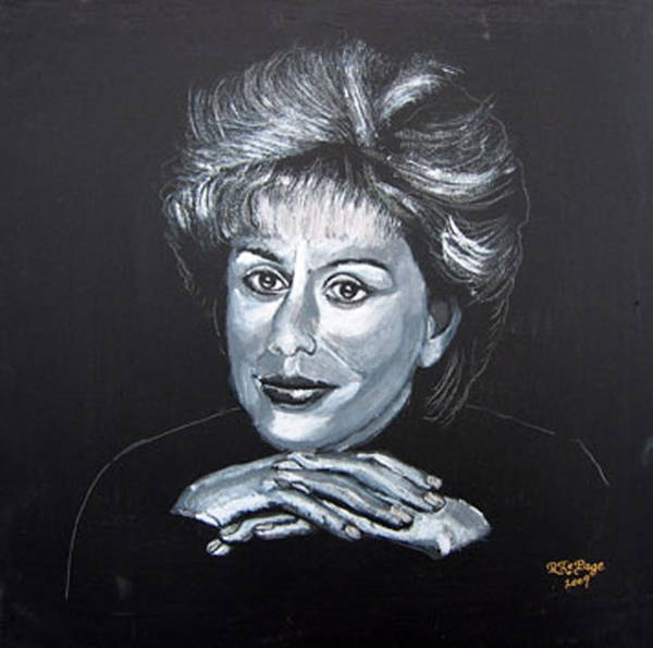 Painting - Dame Kiri by Richard Le Page