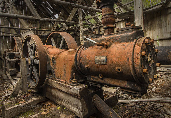 Photograph - Dan Creek Compressor by Fred Denner