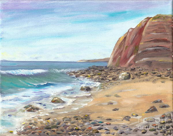 Painting - Dana Point Beach by Mary Scott