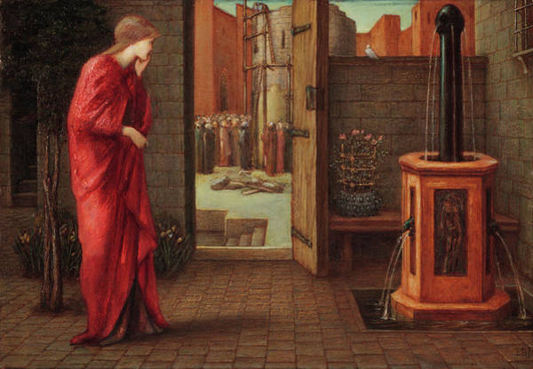 Wall Art - Painting - Danae Watching The Building Of The Brazen Tower by Sir Edward Coley Burne-Jones