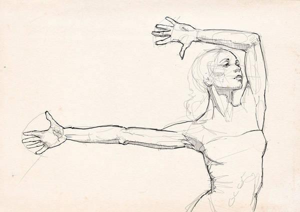 Wall Art - Drawing - Dance Anatomy by H James Hoff