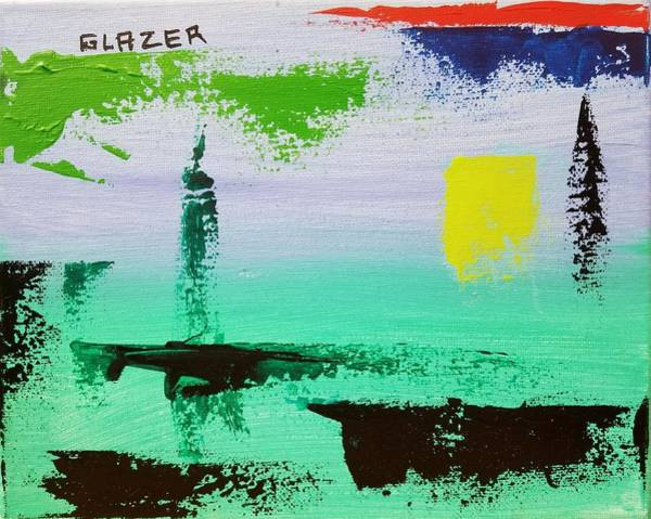 Wall Art - Painting - Dance By The Light Of The Setting Sun by Stuart Glazer