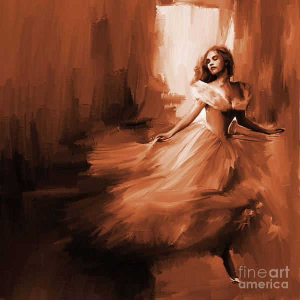 Fire Dance Wall Art - Painting - Dance In A Dream 01 by Gull G