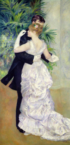 Renoir Wall Art - Painting - Dance In The City by Pierre Auguste Renoir