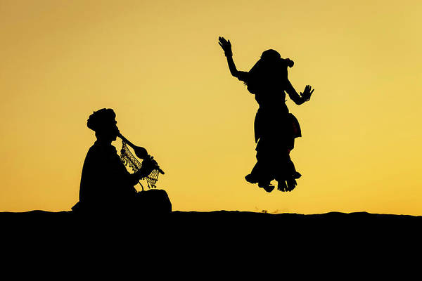 Photograph - Dance In The Dunes, Jaisalmer by Mahesh Balasubramanian