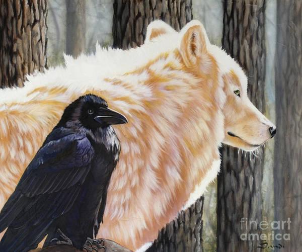 Ravens Painting - Dance In The Light by Sandi Baker
