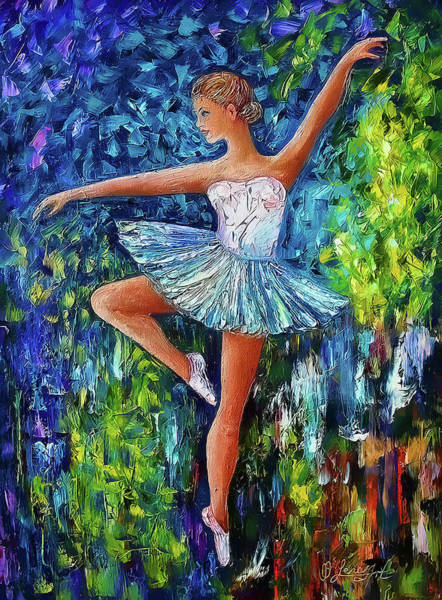 Digital Art - Dance In The Rain Of Color  by OLena Art - Lena Owens