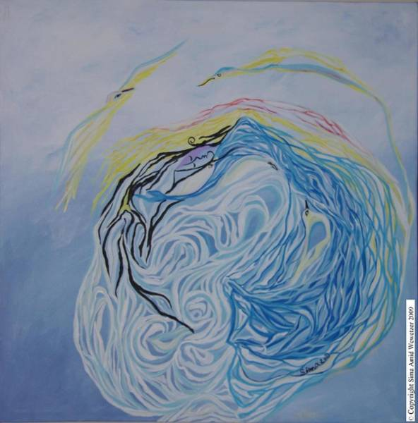 Dance In The Wave Art Print