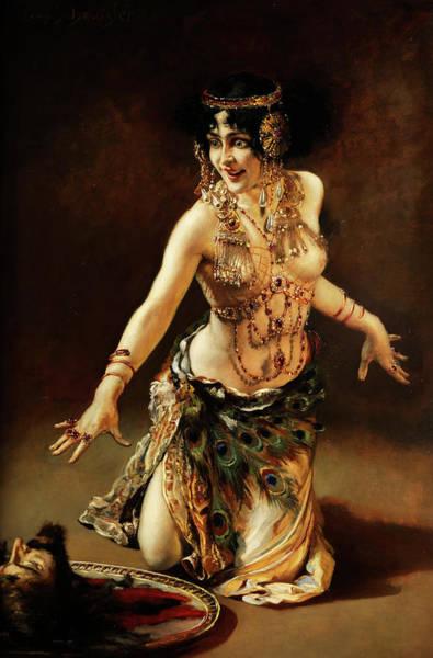 Beheaded Wall Art - Painting - Dance Of Salome by Leopold Schmutzler