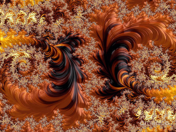 Digital Art - Dance Of The Falling Leaves by Elaine Teague