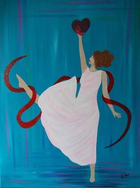 Wall Art - Painting - Dance Of The Heart by Jennifer Ochs