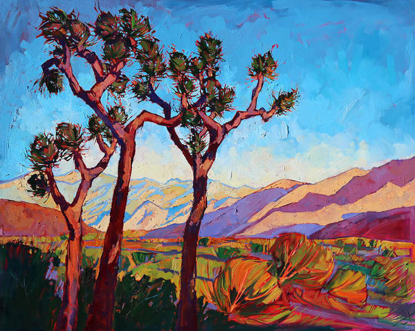 Joshua Tree National Park Wall Art - Painting - Dance Of The Joshuas by Erin Hanson