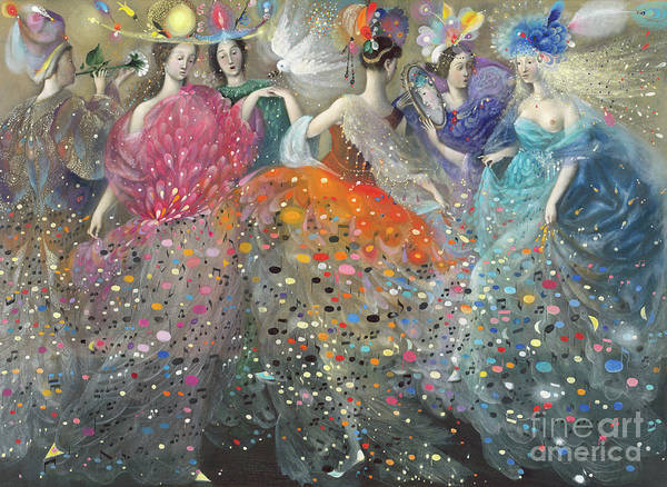 Wall Art - Painting - Dance Of The Muses by Annael Anelia Pavlova